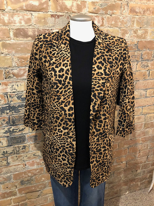 Black Tape Animal Print Blazer