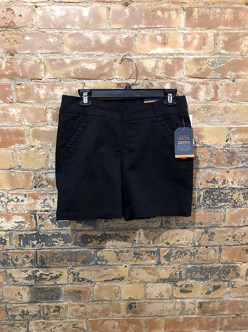 Jag Black Cotton Twill Shorts