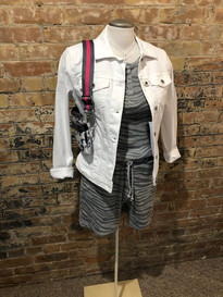 Tom Tailor white jacket/RDstyle tank snd