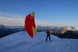 speedriding en séminaire ski