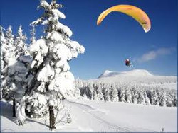 parapente en séminaire ski