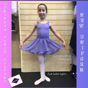 Our beautiful new uniform here at Luminous Dance Academy. Available to purchase at Dancers Box