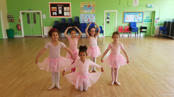 Grade 1 practising for thier first performance at Belmont School Summer fete