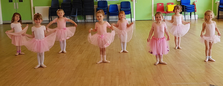 Our Ballet foundations class working hard in class.