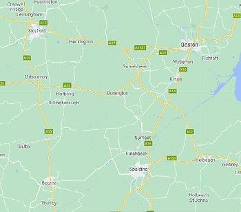 Map of Donington and surrounding areaas.