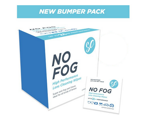 100 Bumper Pack No Fog Single Use Anti Fog Wipes Delivery After 10th Jan