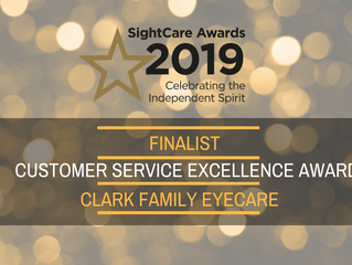 Clark Family Eyecare shortlisted for 2nd Customer Service Award of 2019