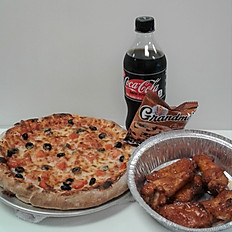 Lunch Pizza & Wing Deal