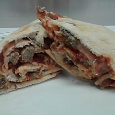 Sliced Meatball Marinara Wrap