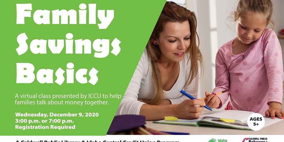 Family Savings Basics (3 p.m.)