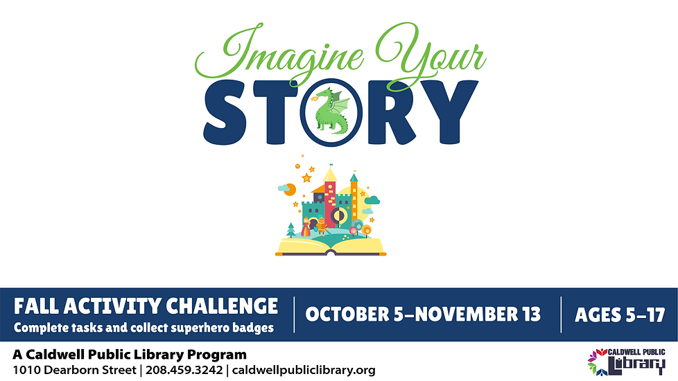 Fall Reading Challenge Website Graphics