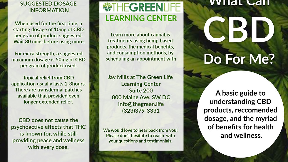Custom CBD Info Brochure