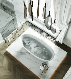 Санузел при мастер спальне. Ванна
