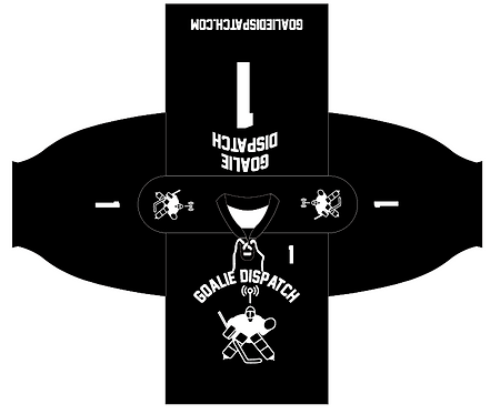 Goalie Dispatch Jersey in Black