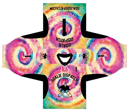 Goalie Dispatch Jersey in Tie-Dye