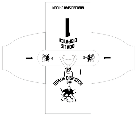 Goalie Dispatch Jersey in White