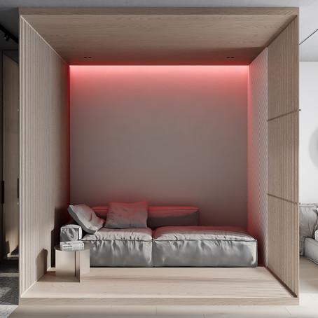 Умеренное использование цвета в небольших помещениях