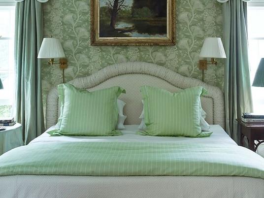 Восхитительные зеленые оттенки для вашей спальни