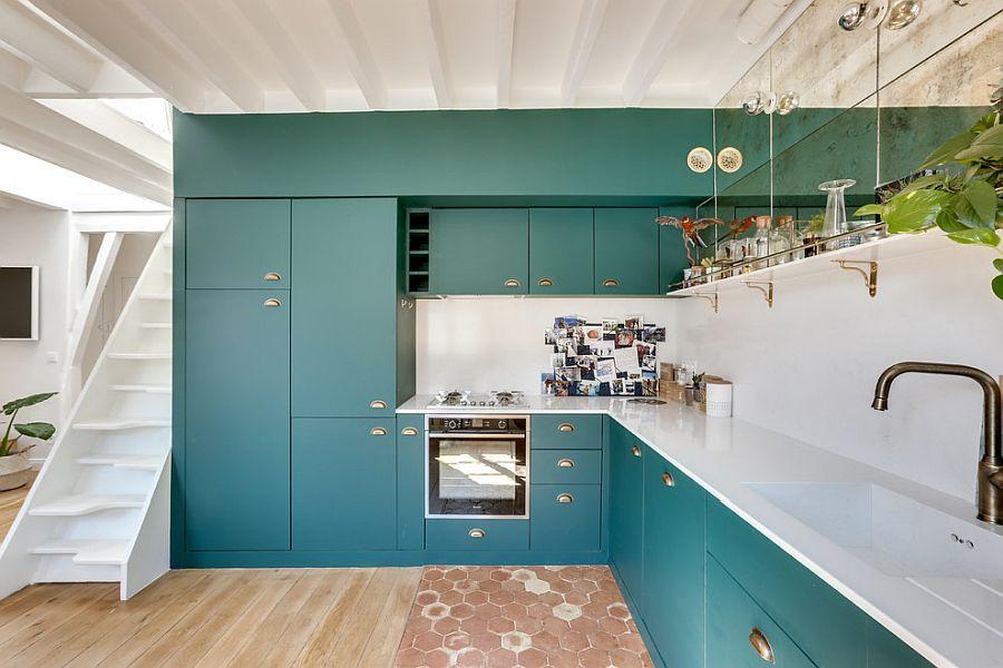 дизайн-кухня-архитектура-цветовые-решения-синий