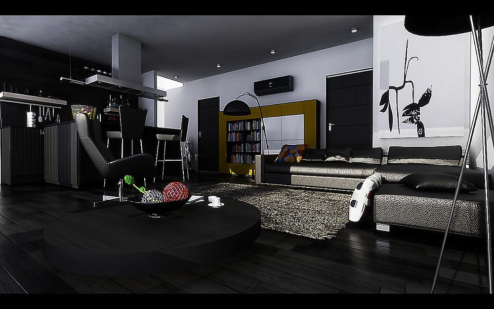 черный-цвет-в-интерьере