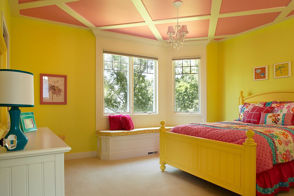 желтый и розовый