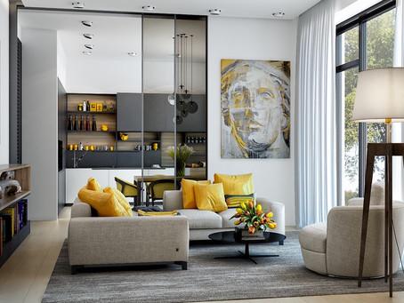 25 великолепных желтых гостиных