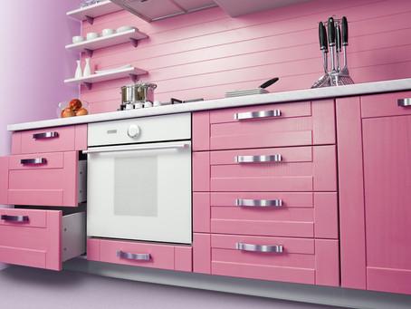 Модные цвета: добавим розового в стильную кухню!