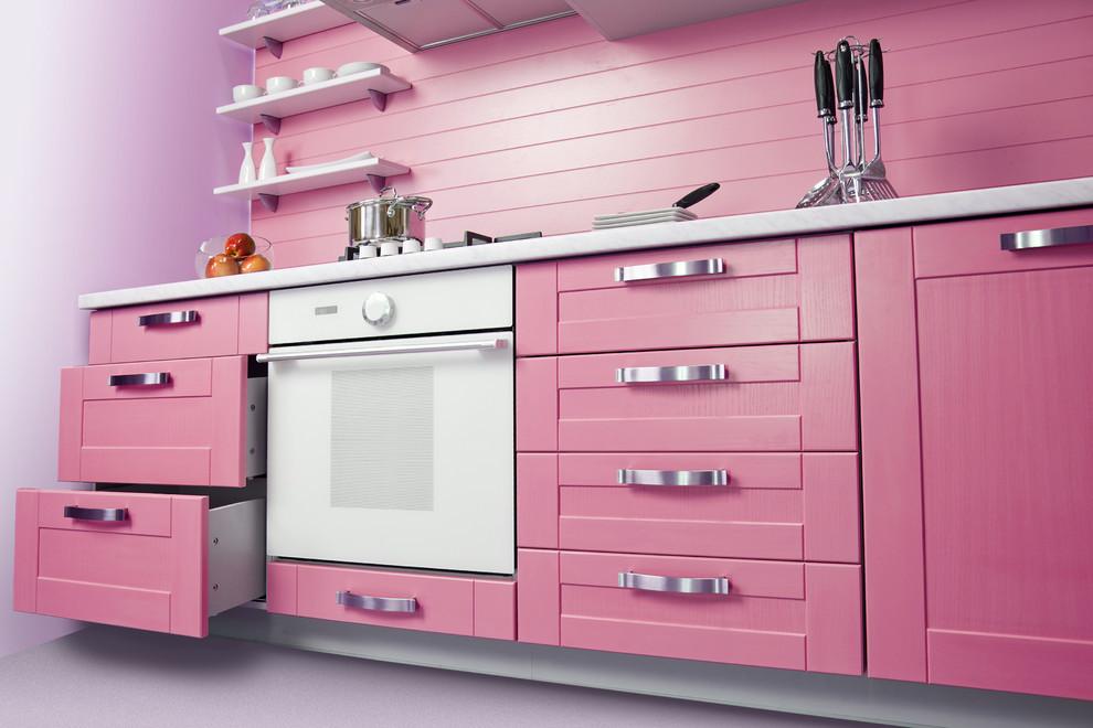 дизайн-розовый-цвет-на-кухне