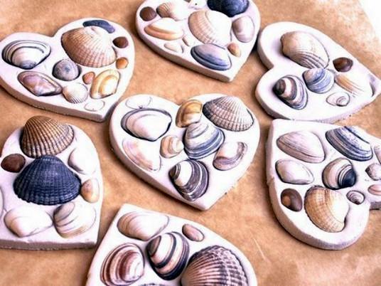 Сохраним теплые воспоминания с моря - декор ракушками