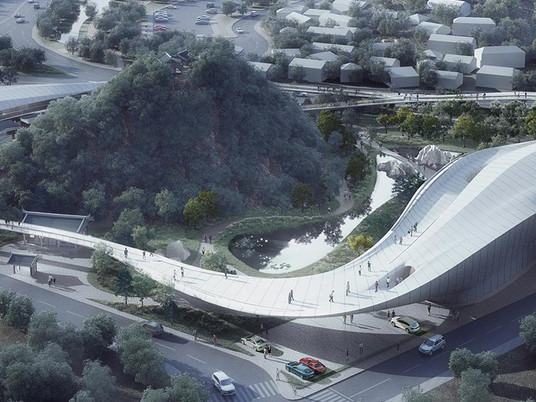 Парящий футуристический проект от архитектурной студии CAA
