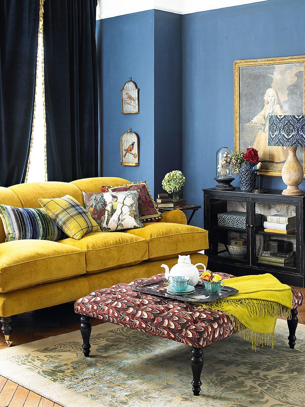 желтый и синий
