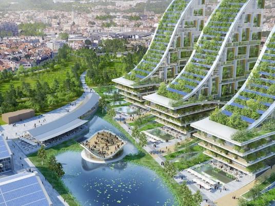 Футуристический зеленый район для бывшей промышленной зоны Брюсселя