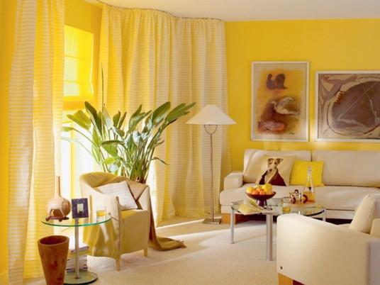 Как использовать желтый цвет в дизайне интерьера