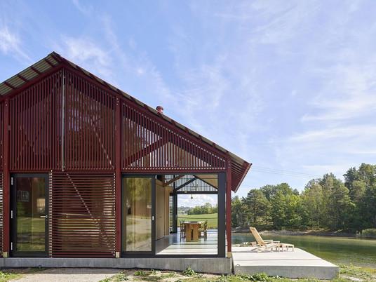 Красный, стеклянный, деревянный с изысканной красотой Сандефьорда