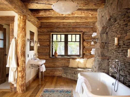 Невероятный деревенский декор ванной комнаты