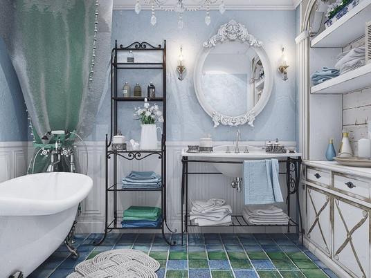 Особенные ванные комнаты в стиле Прованс