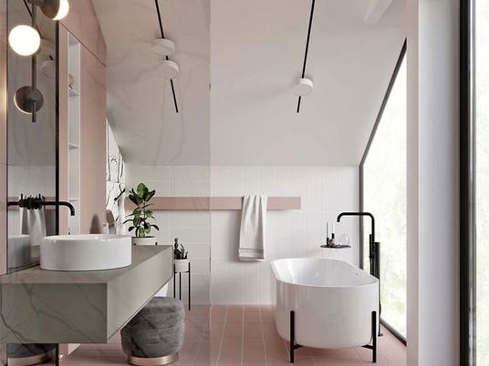 Тенденции в дизайне ванной комнаты 2019 - Идеи, цвета, плитка (часть 1)