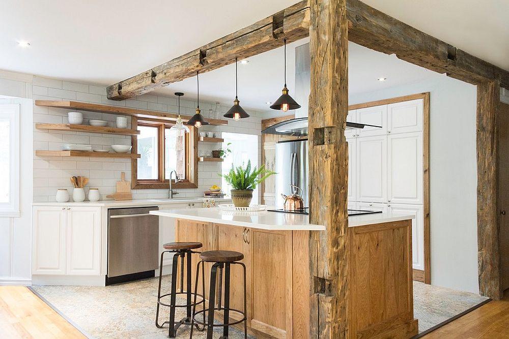 дизайн-кухня-архитектура-цветовые-решения-белый-дерево