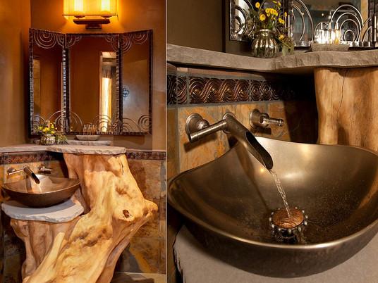 Современные ванные комнаты в средиземноморском стиле