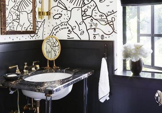 Магический черный цвет для Вашей ванной