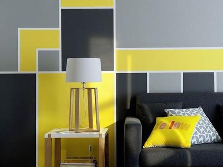 Яркая, оригинальная и такая простая геометрия на стене