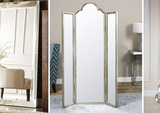 Стильные напольные зеркала