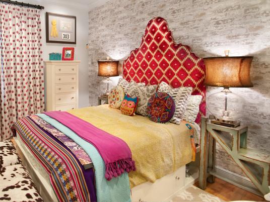 Неповторимая спальня в стиле Бохо