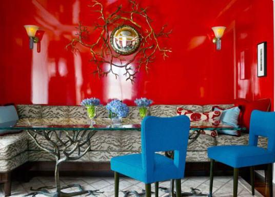 Значение красного цвета в дизайне интерьера