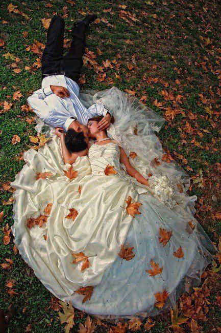 Есенна сватбена фотография