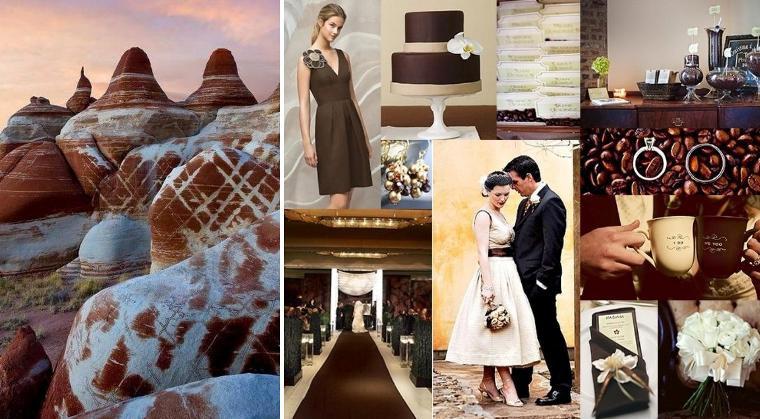 Сватба в кафяво