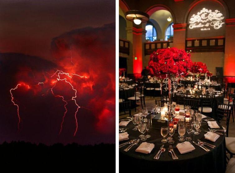 Сватба в червено и черно
