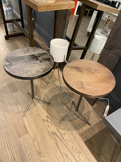 Steel and wood cocktail tables