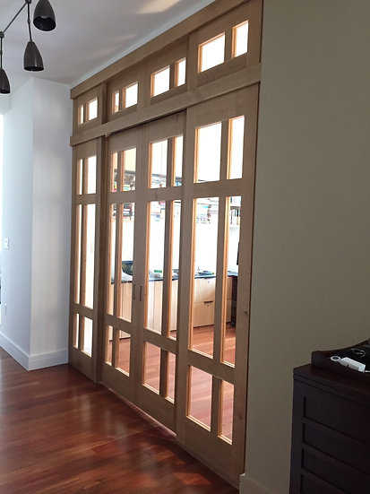 Solid White Oak Partition Doors