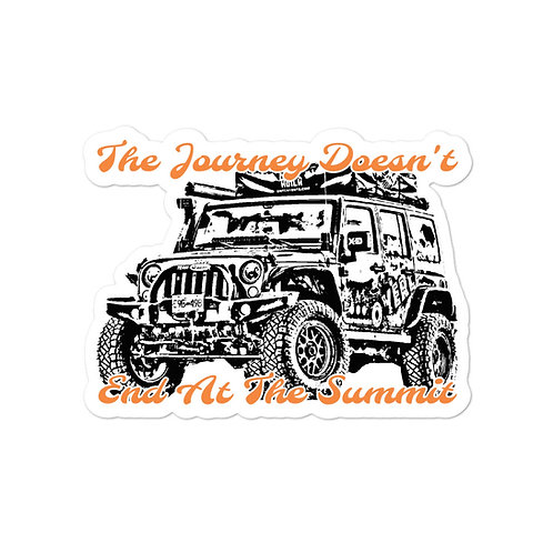 The Journey Doesn't End At The Summit Sticker